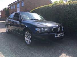 BMW 3 Series, 2004 (54) Black Saloon, Manual Diesel,