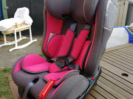 Baby car seat Pampero - Pink - from suitable from birth to 25kg (toddler) age