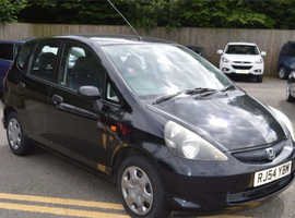 Honda Jazz, 2004 (54) Black Hatchback, Manual Petrol, 108,000 miles