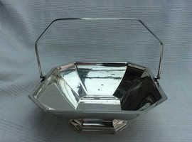 Vintage Silver Plated Basket