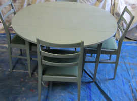 Gate-leg Dining Table and Chairs