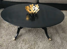 Beautiful Black Oval coffee table