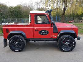 Land Rover DEFENDER 90, 2000 (W) Red 4x4, Manual Diesel, 115,000 miles