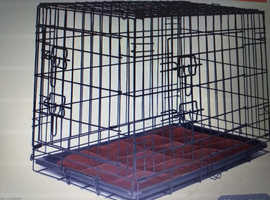 Medium  dog crate and dog bed