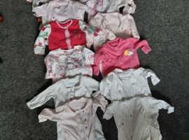 Newborn sleepsuits.