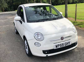 Fiat 500, 2009 (59) White Hatchback, Manual Petrol, 70,000 miles