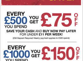 Spend and save for every £500 spent