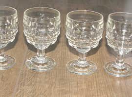 6 Vintage Jacobean Sherry Glasses