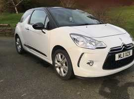 Citroen DS3 1.6 E-HDI D-Style 2011 White Hatchback, Free tax, Long MOT, 65+mpg, Cheap insurance