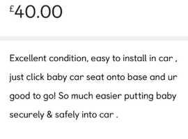 Easy maxi cosy car seat base