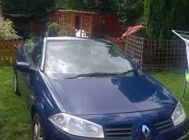 Renault MEGANE CAB DYNAM+ 16V, 2005 (05) blue convertible, Manual Petrol, 76 miles