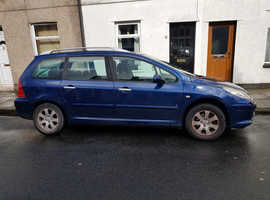 Peugeot 307, 2005 (55) Blue Estate, Manual Petrol, 95,000 miles