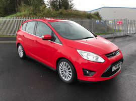 Ford C-Max, 2012 (61) Red MPV, Automatic Diesel, 44,682 miles