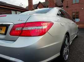 Mercedes E Class, 2010 (10) Silver Coupe AMG Line, Automatic Diesel, 108,000 miles