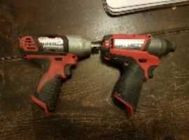 12v Milwaukee impact driver and gun