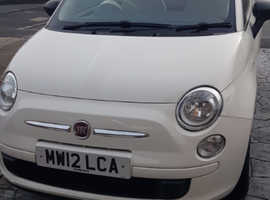 Fiat 500, 2012 (12) White Hatchback, Manual Petrol, 34,000 miles