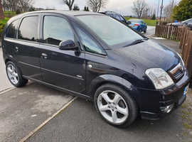 Vauxhall Meriva, 2008 (08) Black MPV, Manual Petrol, 82,000 miles