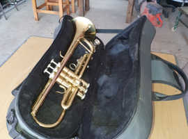 trumpet and case