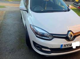 Renault Megane, 2014 (14) White Hatchback, Manual Diesel, 77,000 miles