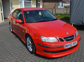 Saab 9-3, 2003 (03) Red Saloon, Automatic Petrol, 87,000 miles