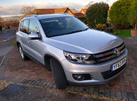 Volkswagen Tiguan, 2013 (63) Silver Estate, Manual Diesel, 70,000 miles