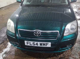 Toyota Avensis, 2004 (54) Green Hatchback, Manual Petrol, 215,789 miles