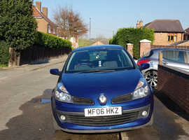 Renault Clio, 2006 (06) Blue Hatchback, Manual Petrol, 13,400 miles