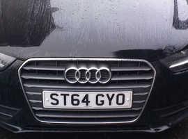 Audi A4, 2014 (64) Black Saloon, Manual Diesel, 150,448 miles