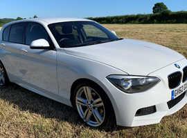 BMW 1 series, 2013 (62) White Hatchback, Automatic Diesel, 88,000 miles
