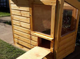 New Indian Star Tortoise House with Sunroom and added electrics
