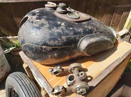 Vintage prewar triumph tiger petrol tank girder yoke