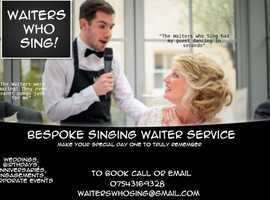 Waiters Who Sing - Bespoke singing waiter service