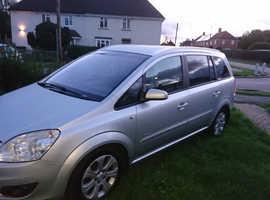 Vauxhall Zafira, 2008 (58) silver mpv, Manual Diesel, 106,000 miles