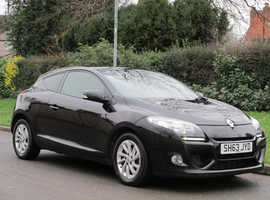 Renault Megane, 2013 (63) Black Coupe, Manual Diesel, 73,000 miles