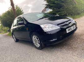 Honda Civic, 2001 (51) Black Hatchback, Automatic Petrol, 127,000 miles
