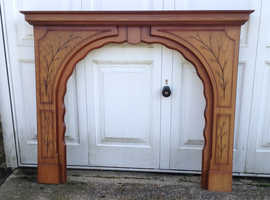 Fire Surround / Mantle in Oak veneered MDF