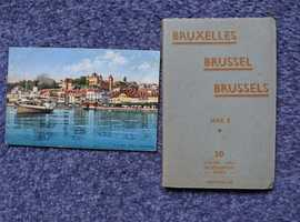 SET POSTCARDS FROM BRUSSELS BRUXELLES + POSTCARD NYON SWITZERLAND VUE GENERALE