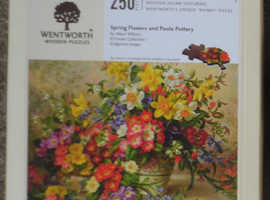 Wentworth Springflowers & Poole Pottery 250 Pcs Wooden Jigsaw