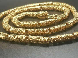 pure gold chain vermeil dragon chain jewellery gift s999 chain 24k mens chain cuban chain womans chain birthday gift anniversary gift