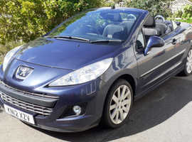 Peugeot 207, 2012 (12) Blue Convertible, Lady Owner. Non-Smoker. Automatic Petrol, 54,674 miles