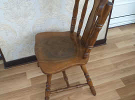 Free set of 4 dark oak ding room/kitchen chairs
