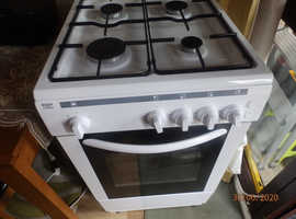 BUSH AG56SW WHITE GAS COOKER. GOOD CONDITION. WELL LOOK AFTER. £179 WHEN NEW. £70