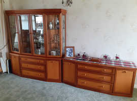 Lovely display cabinet + set of drawers.