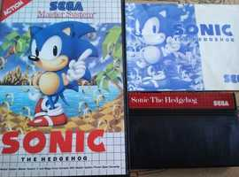 Sonic Sega Master System game in box