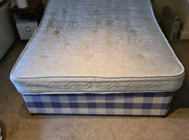 Double Divan bed and double mattress