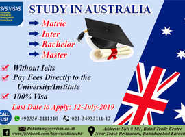 Study In Australia (Without Ielts)