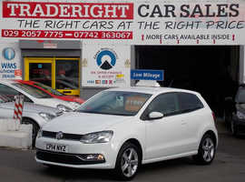 Volkswagen Polo, 2014 (14) White Hatchback, Manual Petrol, 30,000 miles