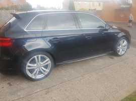 Audi A3, 2013 (63) Black Hatchback, Manual Diesel, 108,000 miles