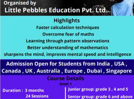 VedicMaths Lessons for Children age from 5 years Onwards
