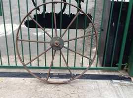 Iron farm wheel